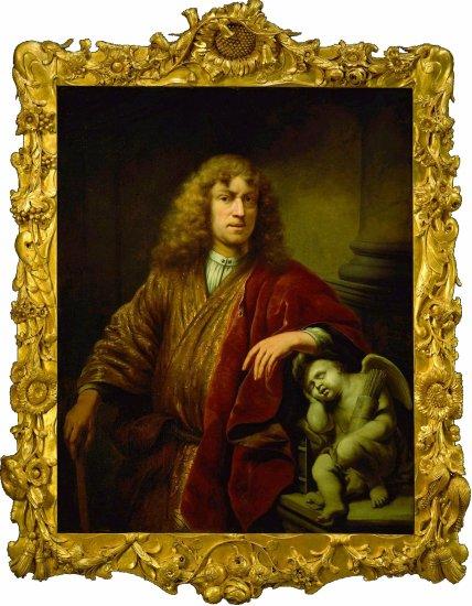Ferdinand Bol Self Portrait met lijst